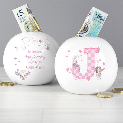 Personalised Fairy Letter Money Box