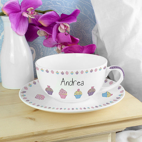 Personalised Cupcake Teacup & Saucer | ShaneToddGifts.co.uk