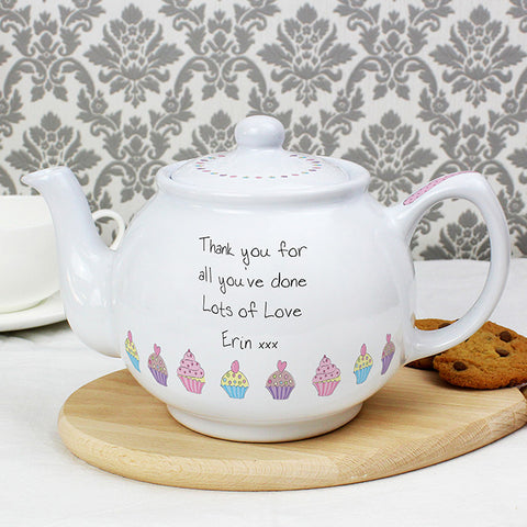 Personalised Cupcake Teapot | ShaneToddGifts.co.uk