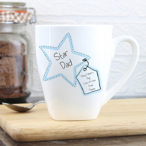 Buy Personalised Star Stitch Latte Mug