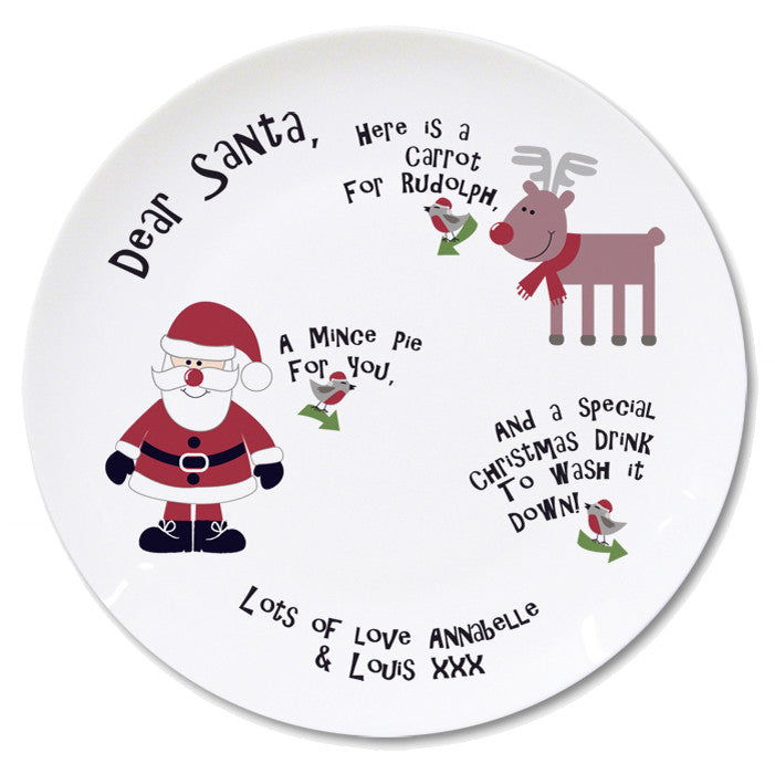 Personalised New Mince Pie Plate | ShaneToddGifts.co.uk