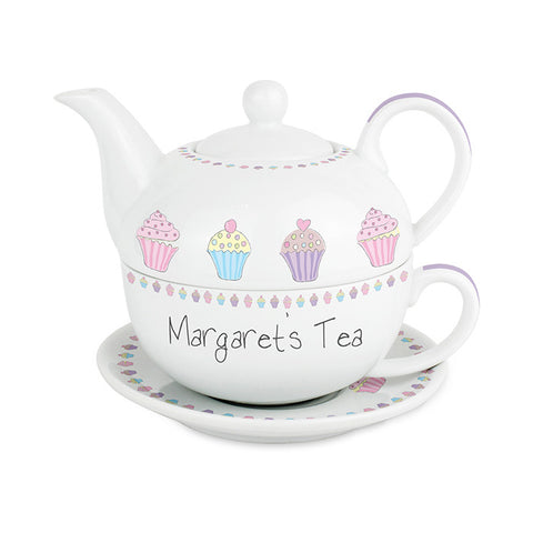 Personalised Cupcake Tea for One - Shane Todd Gifts UK