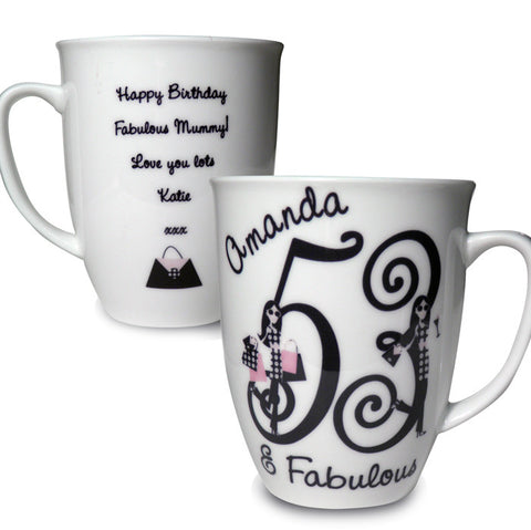 Buy Personalised Fabulous Numbers Latte Mug