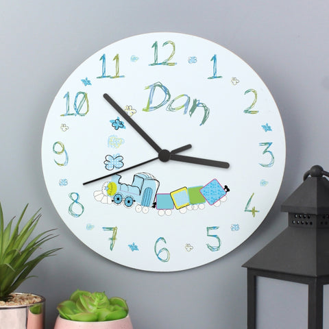 Personalised Patchwork Train Clock | ShaneToddGifts.co.uk