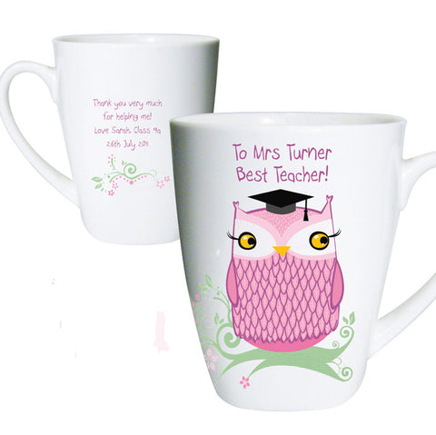 Buy Personalised Miss Owl TeacHer Latte Mug
