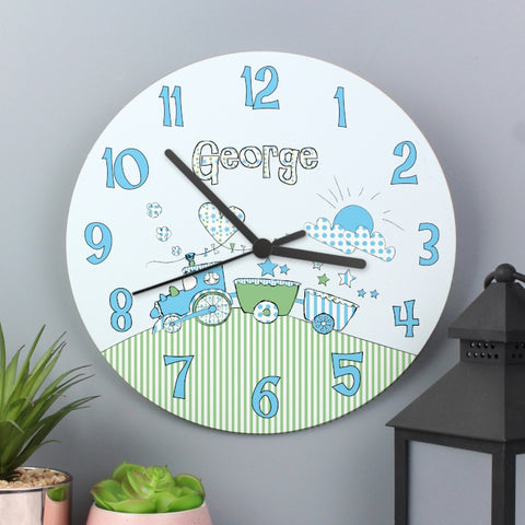 Buy Personalised WHimsical Train Clock