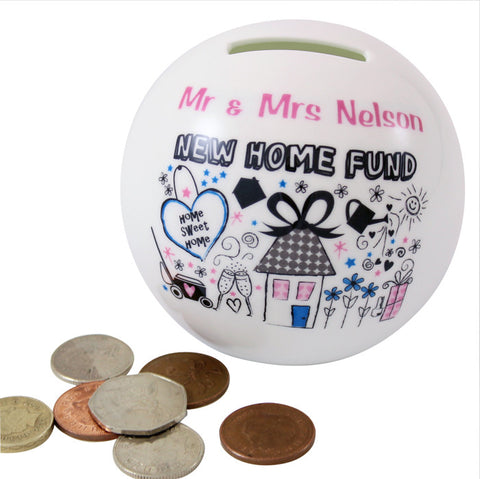 Personalised New Home Money Box - Shane Todd Gifts UK
