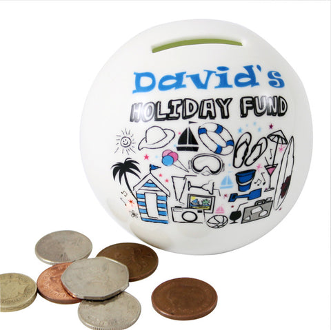Personalised Holiday Money Box