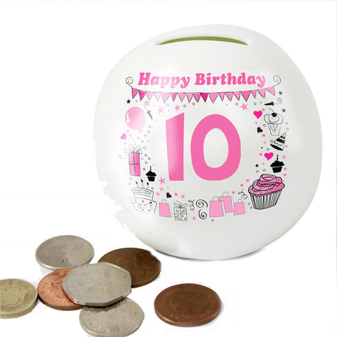 Buy Personalised Big Age Girl Money Box