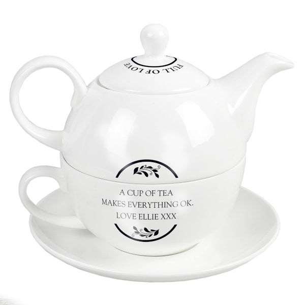 Personalised Full of Love Tea for One - Shane Todd Gifts UK
