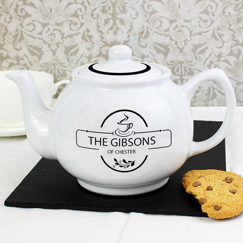 Personalised Full of Love Teapot - Shane Todd Gifts UK