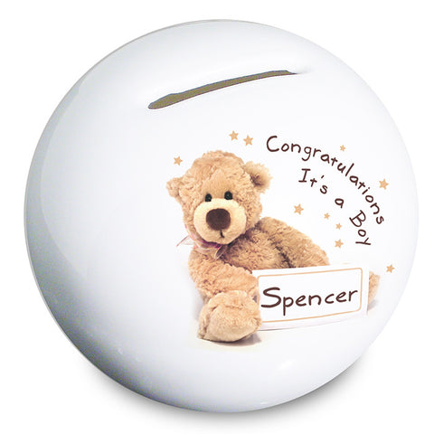 Buy Personalised Teddy Money Box