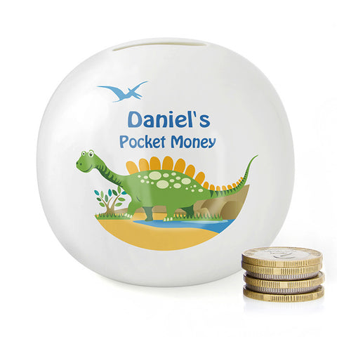 Buy Personalised Dinosaur Money Box