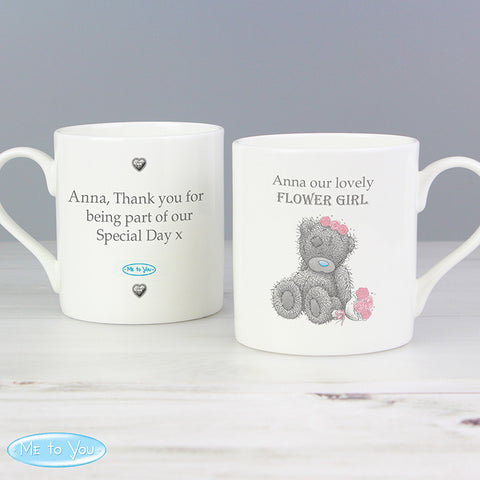 Personalised Me To You Girls Wedding Balmoral Mug | ShaneToddGifts.co.uk