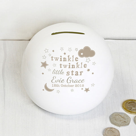 Buy Personalised Twinkle Twinkle Money Box