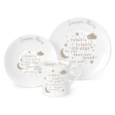 Buy Personalised Twinkle Twinkle Breakfast Set