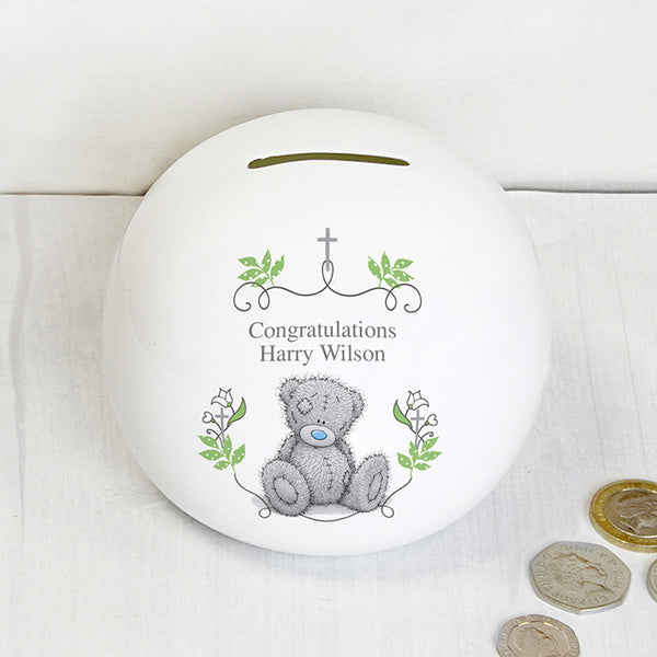 Personalised Me To You Religious Cross Money Box