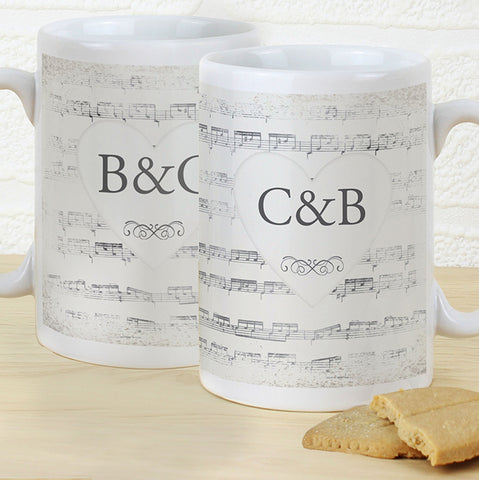 Buy Personalised Vintage Manuscript Mug Set