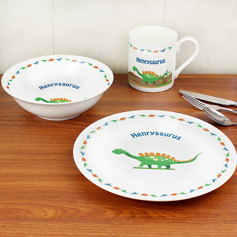 Buy Personalised Dinosaur Breakfast Set
