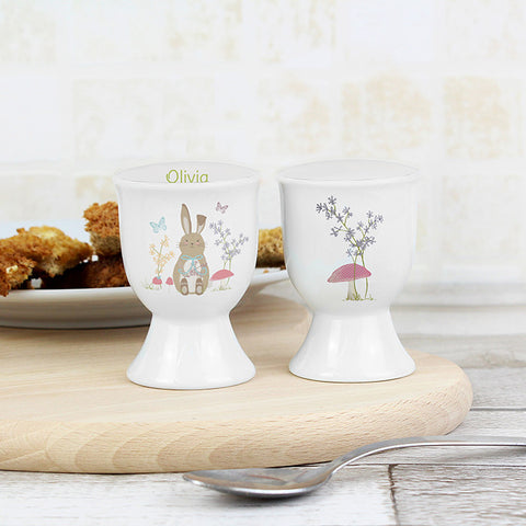 Personalised Easter Meadow Bunny Egg Cup - Shane Todd Gifts UK
