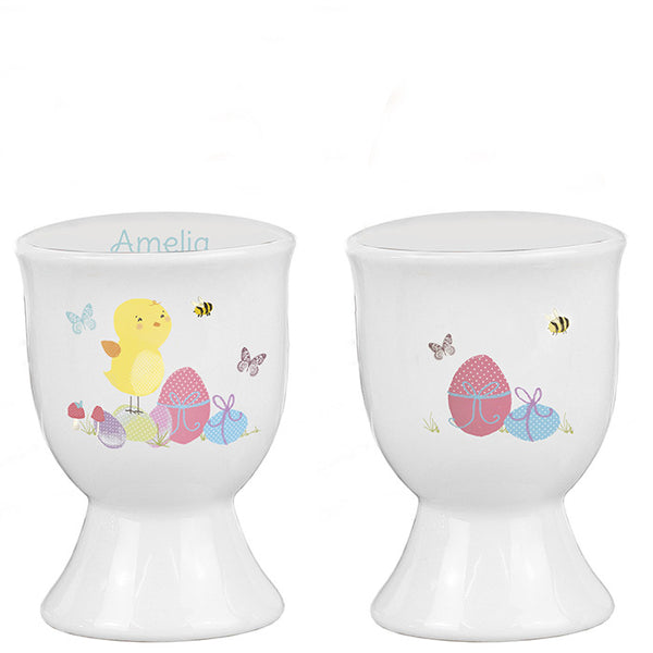 Personalised Easter Meadow Chick Egg Cup - Shane Todd Gifts UK