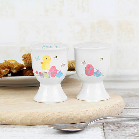 Buy Personalised Easter Meadow Chick Egg Cup