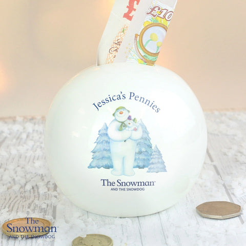 Personalised The Snowman and the Snowdog Money Box - Shane Todd Gifts UK