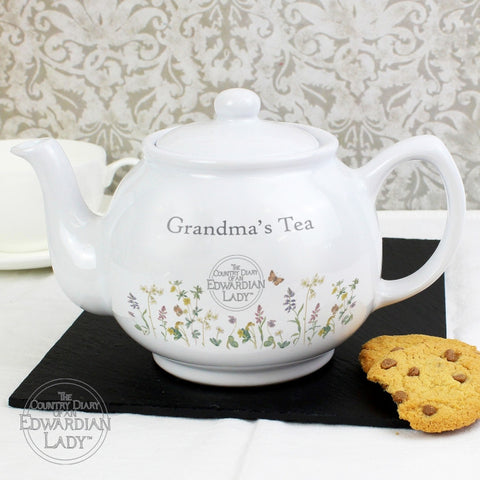 Buy Personalised Country Diary Wild Flowers Teapot