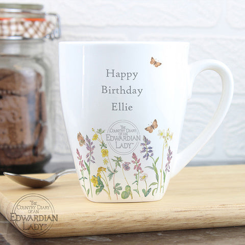 Buy Personalised Country Diary Wild Flowers Latte Mug