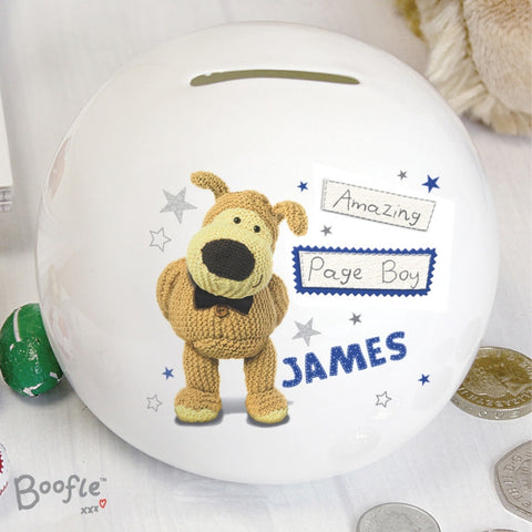 Buy Personalised Boofle Boys Wedding Money Box