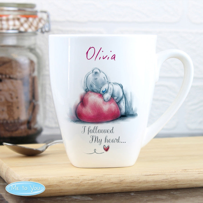 Buy Personalised Me To You Heart Latte Mug