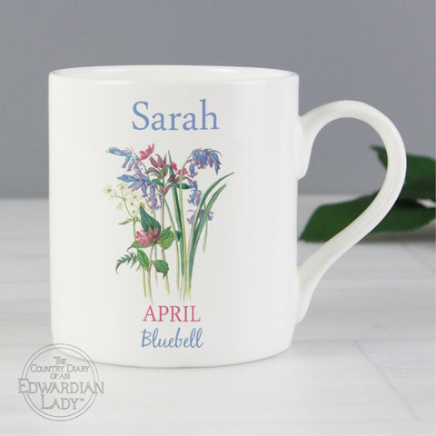 Personalised Country Diary 'April Flower Of The Month' Balmoral Mug - Shane Todd Gifts UK
