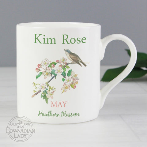 Buy Personalised Country Diary 'May Flower Of The Month' Balmoral Mug