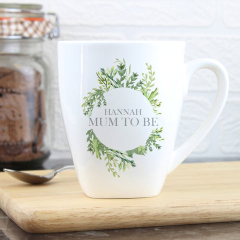 Personalised Fresh Botanical Latte Mug - Shane Todd Gifts UK