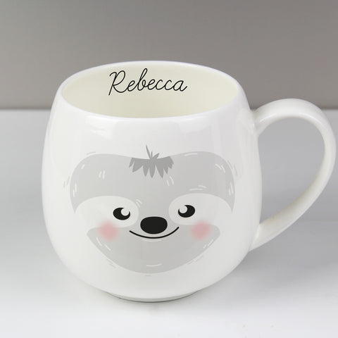 Personalised Cute Sloth Shape Mug
