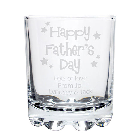 Personalised Happy Fathers Day Stars Stern Tumbler - Shane Todd Gifts UK