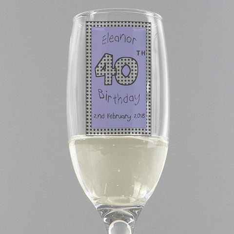 Buy Personalised Lilac Happy Birthday Flute
