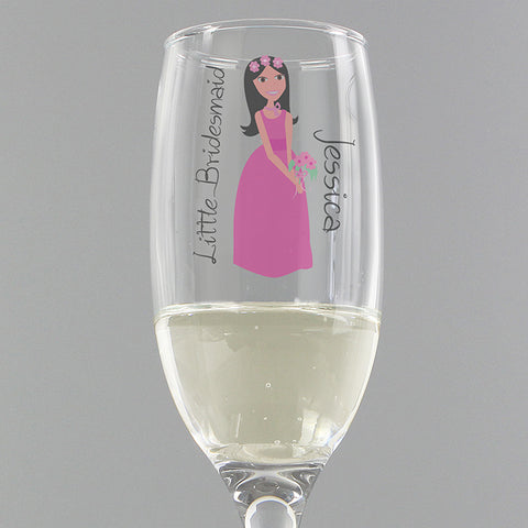 Buy Personalised Fabulous Little Bridesmaid Flute