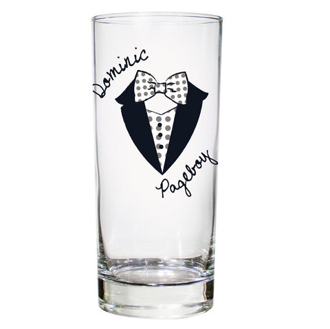 Personalised Dotty Wedding Young Male Hi Ball Glass - Shane Todd Gifts UK