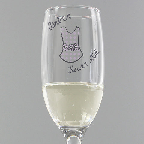 Buy Personalised Dotty Wedding Young Female Flute