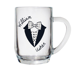 Buy Personalised Dotty Wedding Male Tankard