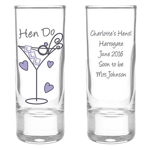 Buy Personalised Hen Do Shot Glass