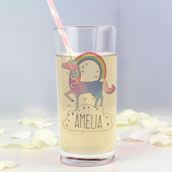 Buy Personalised Unicorn Hi Ball Glass