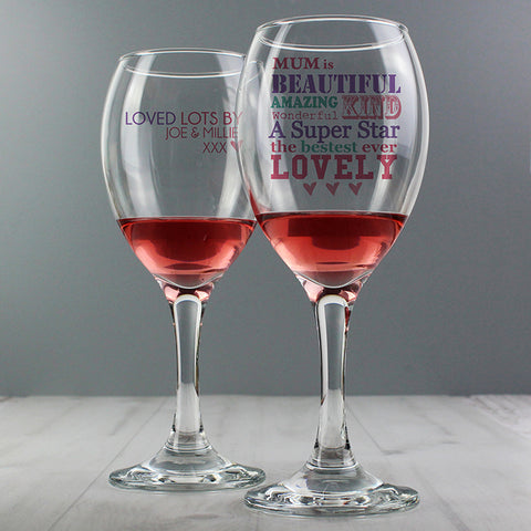 Buy Personalised She Is... Wine Glass
