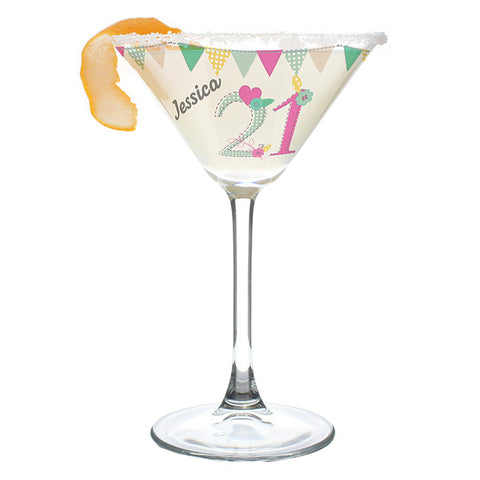 Personalised Birthday Craft Cocktail Glass
