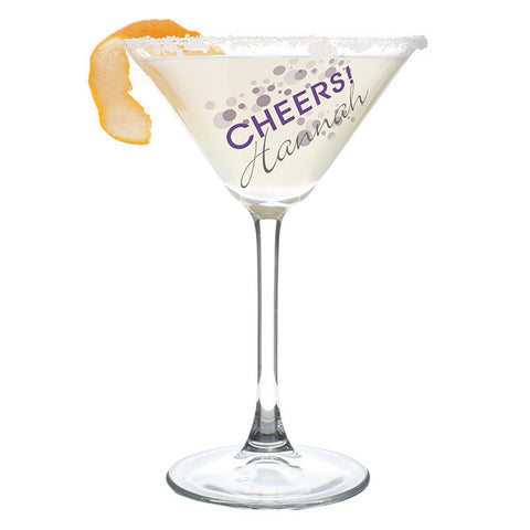 Personalised Cheers Cocktail Glass