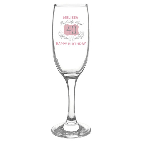 Buy Personalised Perfectly Aged Champagne Flute