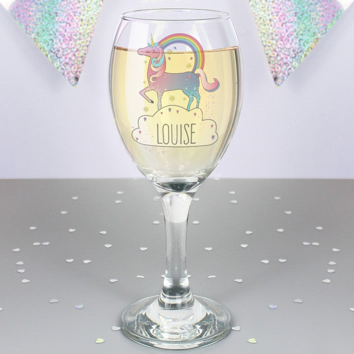 Buy Personalised Unicorn Wine Glass