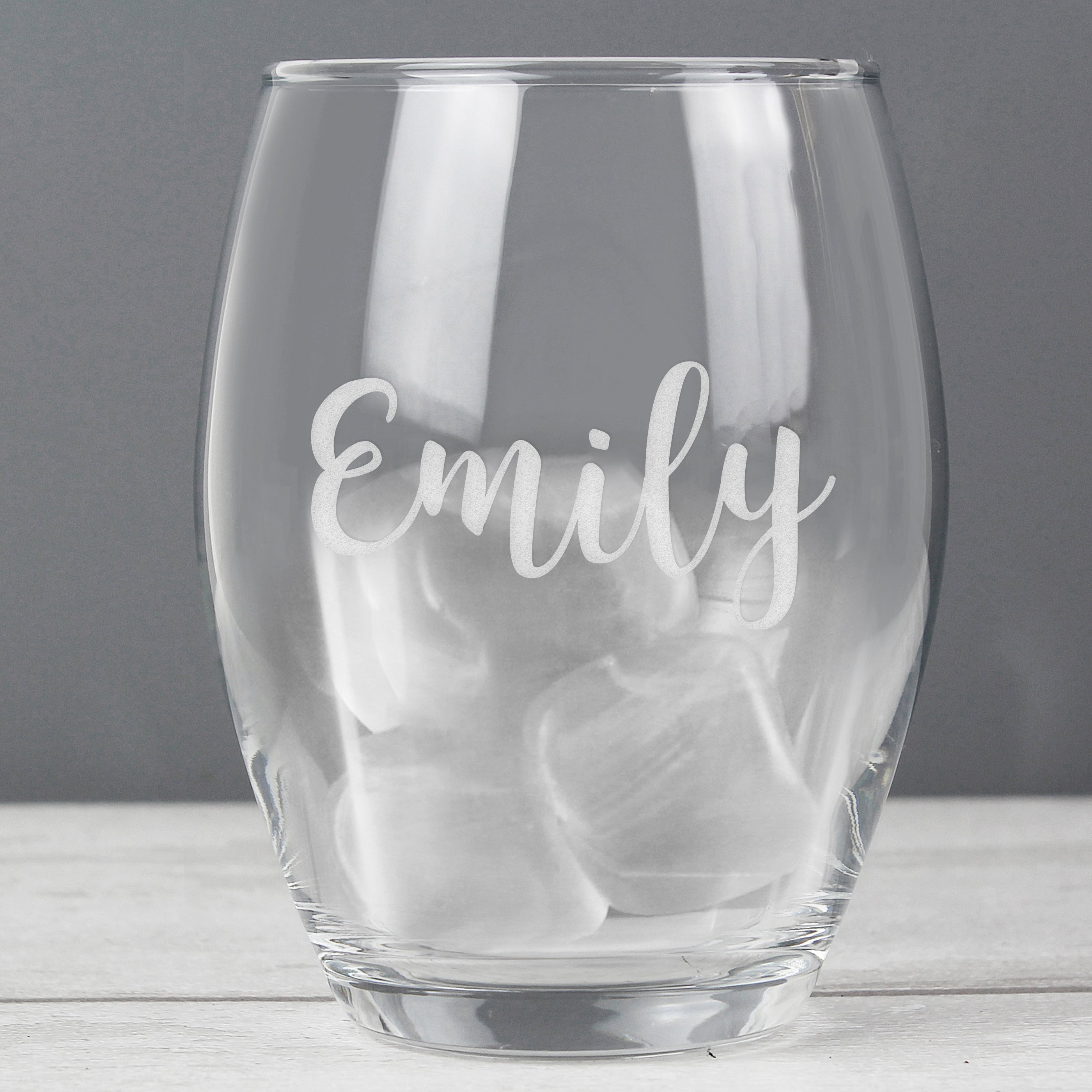 Personalised Name Only Stemless Wine Glass, Home & Garden by Low Cost Gifts