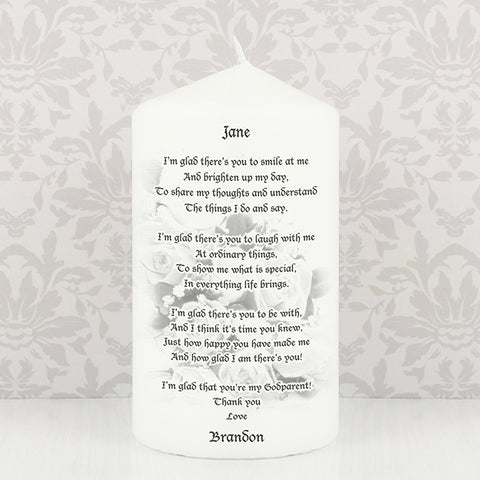 Buy Personalised Godparent candle